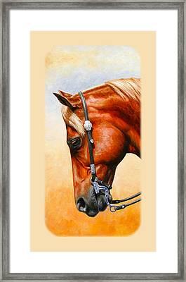 Western Pleasure Horse Phone Case Framed Print