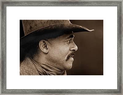 Western Profile Framed Print by Nick Sokoloff