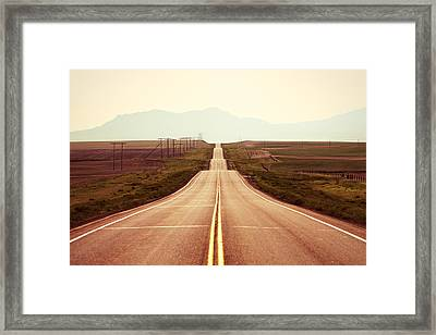 Western Road Framed Print by Todd Klassy