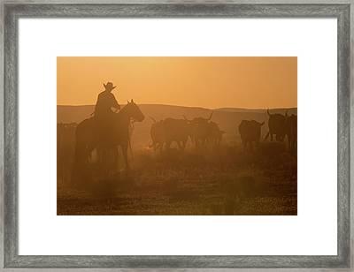 Western Roundup Number 1 Framed Print by Steve Gadomski