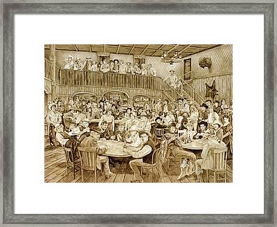 Western Saloon Framed Print