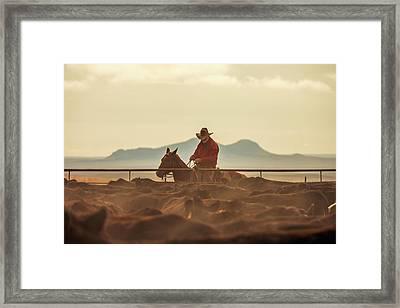 Western Singe Framed Print by Todd Klassy