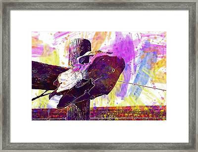 Framed Print featuring the digital art Western Skull Farm Trophy Skeleton  by PixBreak Art
