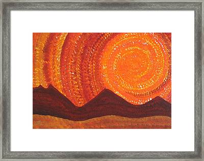 Western Sky Wave Original Painting Framed Print by Sol Luckman