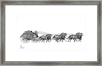 Western Stagecoach Framed Print