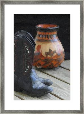 Framed Print featuring the photograph Western Still Life by Kenny Francis
