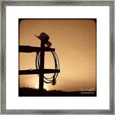 Western Sunset Framed Print