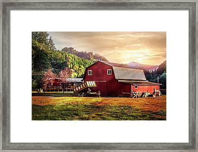 Western Sunset Framed Print by Debra and Dave Vanderlaan