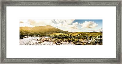 Western Tasmania Mountain Range Framed Print