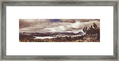 Western Tasmanian Lakes Landscape Framed Print by Jorgo Photography - Wall Art Gallery
