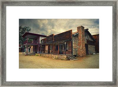 Western Town - Paramount Ranch Framed Print