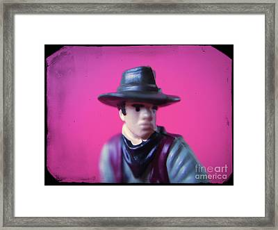 Western Toy Figure #2 Framed Print