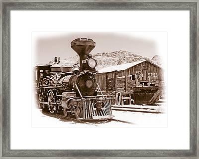 Western Train Framed Print