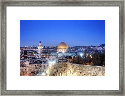 Western Wall And Dome Of The Rock Framed Print