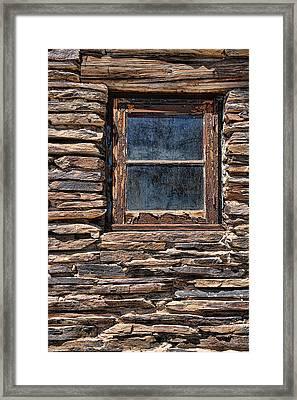 Western Window Framed Print