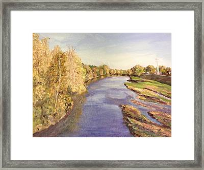 Westfield River- View From Bridge Framed Print by Richard Nowak