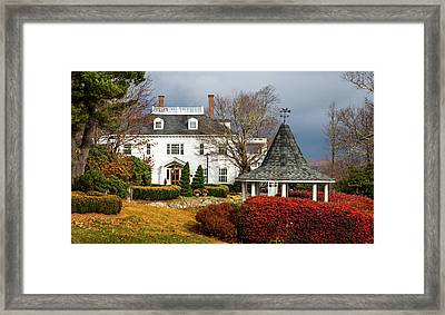 Framed Print featuring the photograph Westglow In Autumn by Karen Wiles