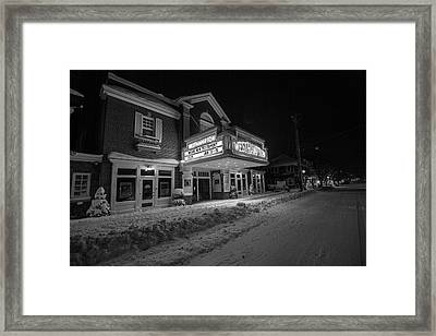 Westhampton Winter Night Framed Print