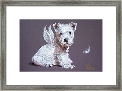 Westie Angel Framed Print