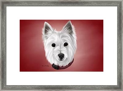 Westie Framed Print by Autumn Bradley