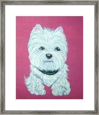 Westie Framed Print by Tammy Brown