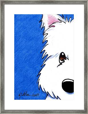 Westie Up Close Framed Print