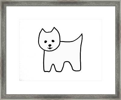 Westie1 Framed Print by Cynthia Cook