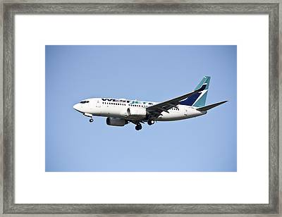 Westjet Framed Print by Nick Mares
