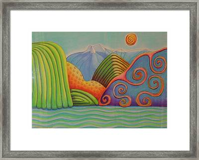 Westland Lake Nz Framed Print by Barbara Stirrup