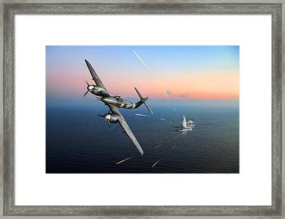 Framed Print featuring the photograph Westland Whirlwind Attacking E-boats by Gary Eason
