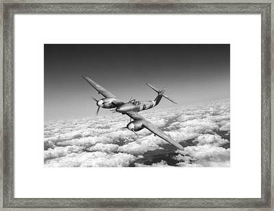Framed Print featuring the photograph Westland Whirlwind Portrait Black And White Version by Gary Eason