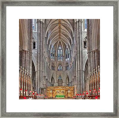 Framed Print featuring the photograph Westminster Abbey by Digital Art Cafe