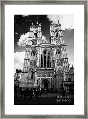 westminster abbey London England UK United kingdom Framed Print