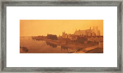 Westminster Abbey  Framed Print by Peter de Wint