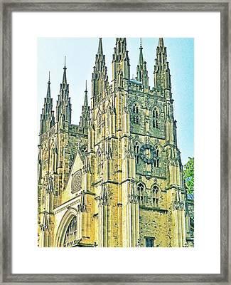 Westminster Abbey Postcard Framed Print