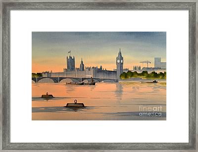 Westminster And Big Ben  Framed Print by Bill Holkham