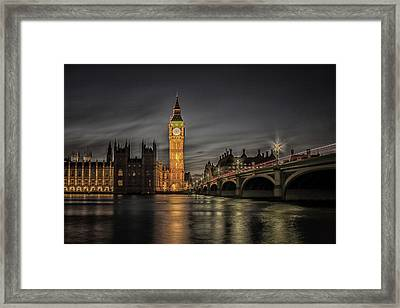 Westminster At Night Framed Print