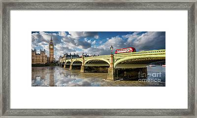 Westminster Bridge Framed Print by Adrian Evans