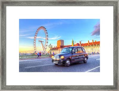 Westminster Bridge And The London Eye Framed Print