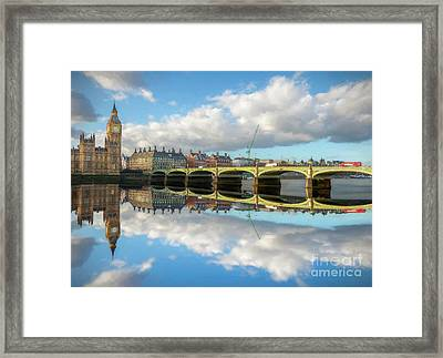 Westminster Bridge London Framed Print by Adrian Evans