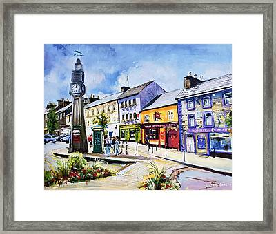 Westport Clock County Mayo Framed Print by Conor McGuire