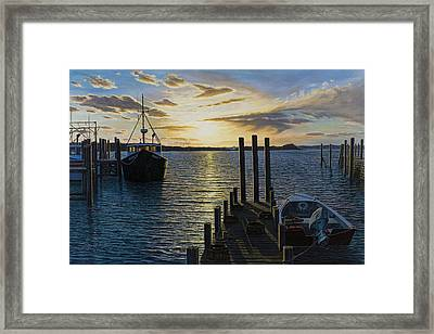 Westport Harbor Framed Print by Bruce Dumas