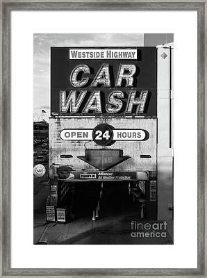 Westside Highway Car Wash Nyc Framed Print