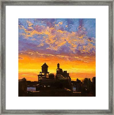 Westside Sunset No. 1 Framed Print