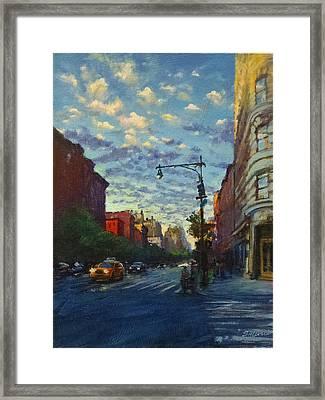 Westside Sunset No. 4 Framed Print by Peter Salwen