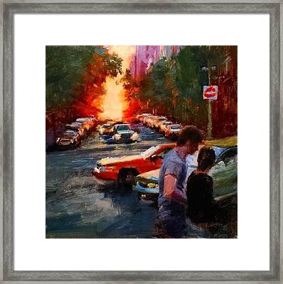 Westside Sunset No. 3 Framed Print