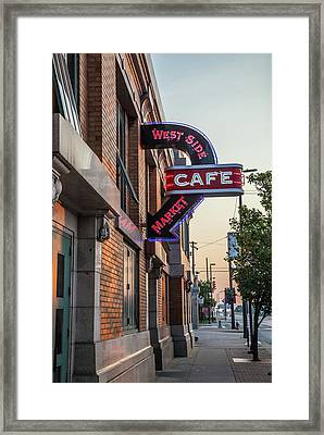 Westsidemarketcafe Framed Print