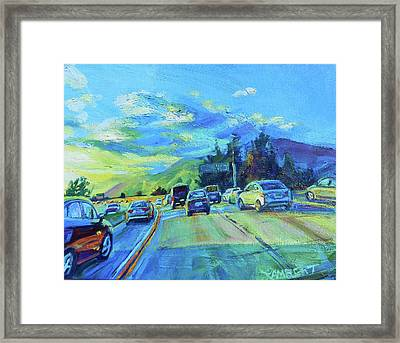 Westward Framed Print by Bonnie Lambert