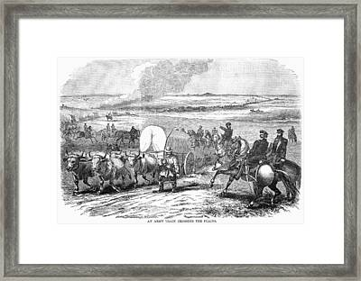Westward Expansion, 1858 Framed Print