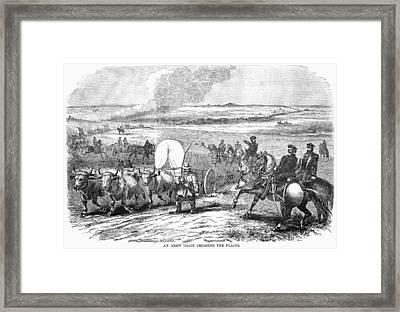 Westward Expansion, 1858 Framed Print